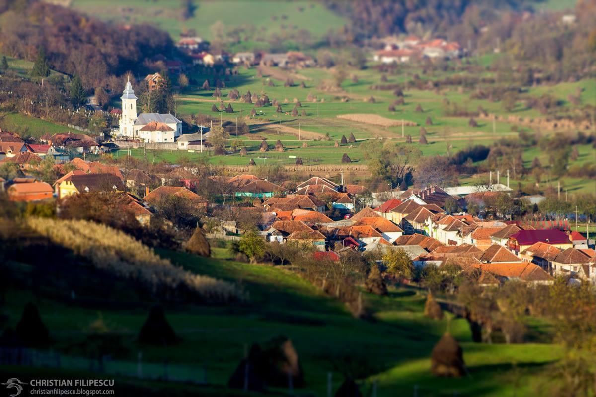 Satul Roșia vazut de sus