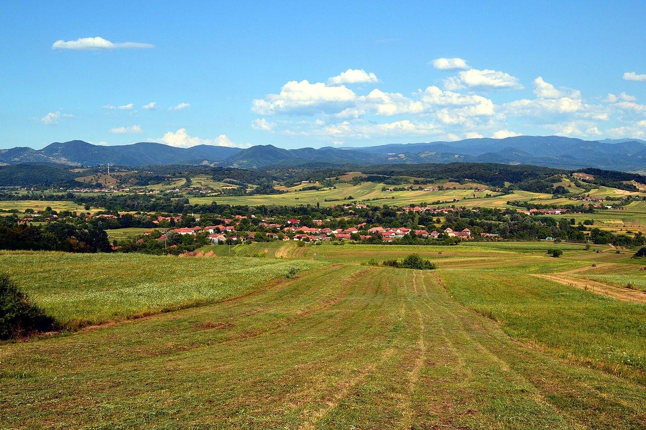 Overlooking Pădurea Craiului Mountains