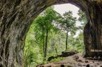Intrare în Peștera Meziad