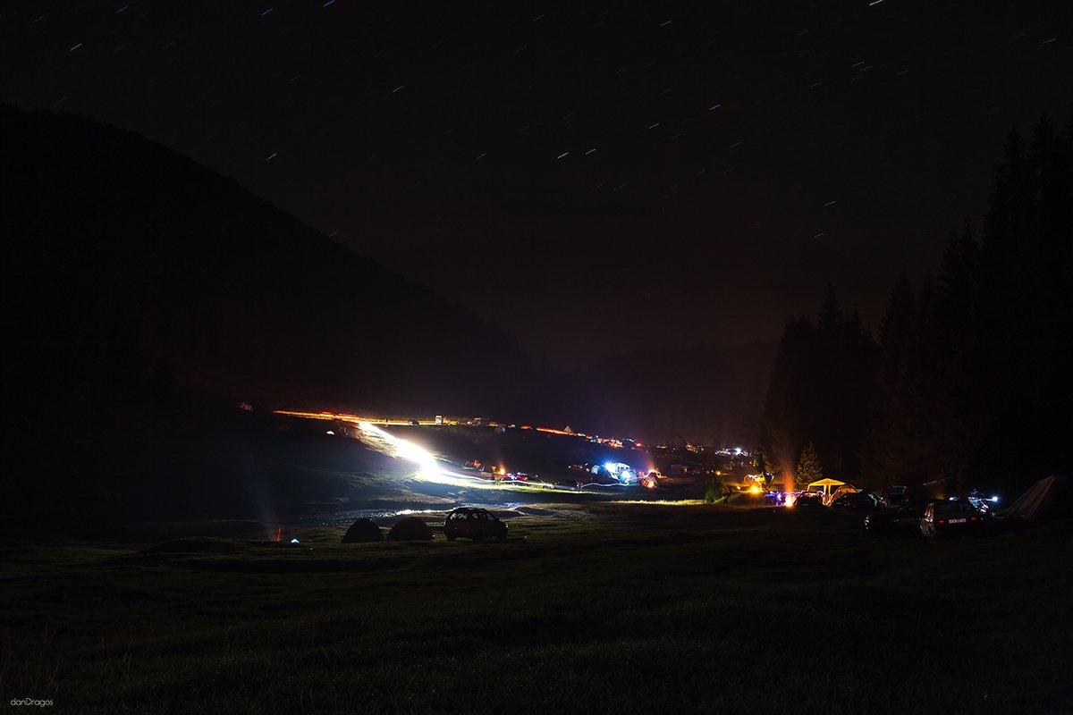 Noaptea in Glavoi cu cortu
