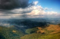 Panoramic view from the Bihor peak