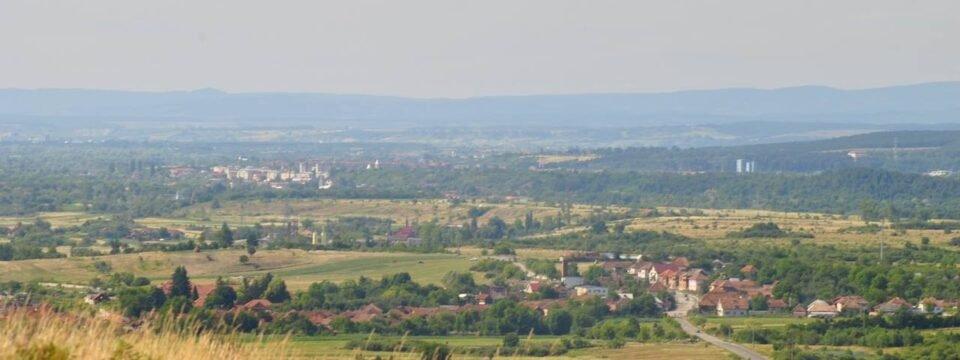Panoramic view of the Vaşcău and Ștei city