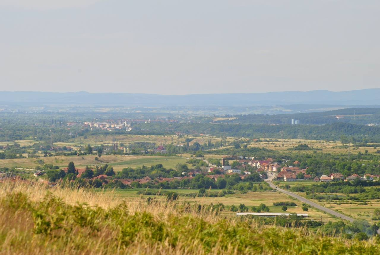 Panoramic view of the Vaşcău and Ștei city