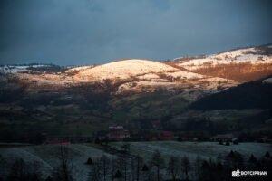 Peisaj de iarna Rosia