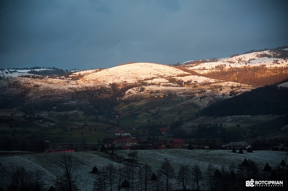 Peisaj de iarna din Roșia
