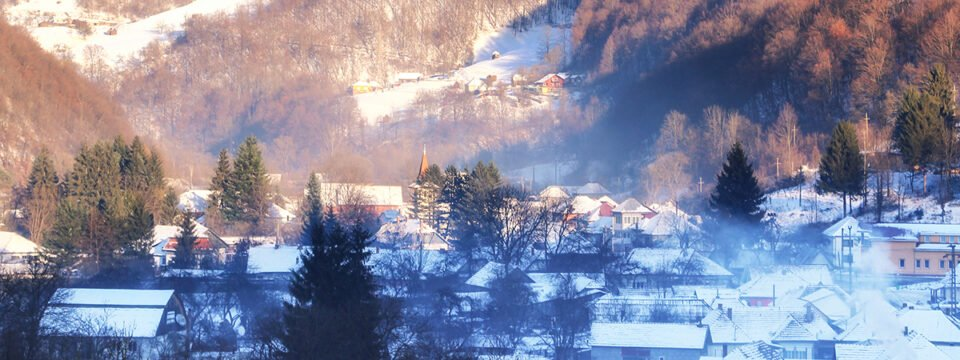 Winter in Remeți village