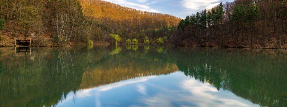 Lacul Vida la apus
