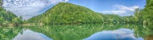 Panorama cu Lacul Vida