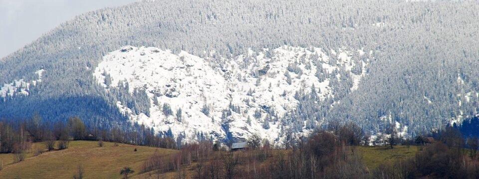 White heart in the Apuseni mountains