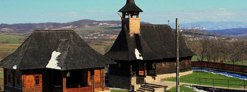 The wooden church in Bratesti village
