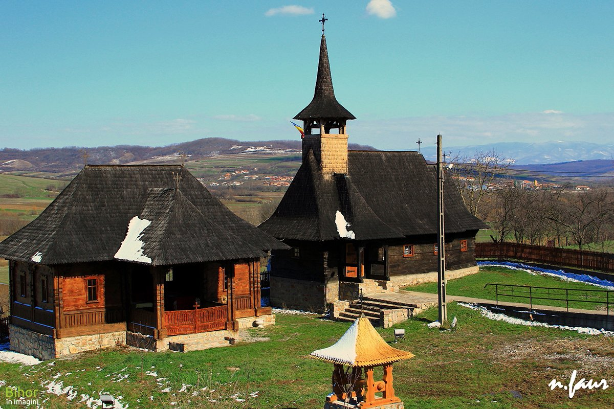 The wooden church in Bratesti village