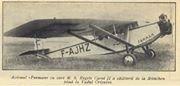 Foto document : Vadu Crisului , 6 iunie 1930 , avionul FARMAN cu care a calatorit Regele Carol II de la Munchen la Vadu Crisului