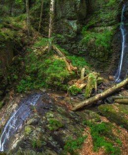The Valul Miresei Waterfall, on Iadului Valley