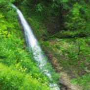 The trail waterfalls in the Iadului valley