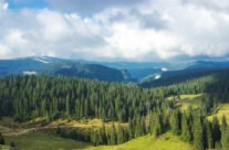 Scenery toward Someșul Cald gorge