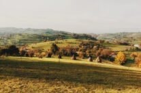 Autumn landscape in Bratca village