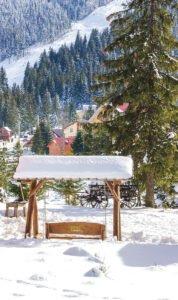 Peisaj de iarna in Statiunea Vartop